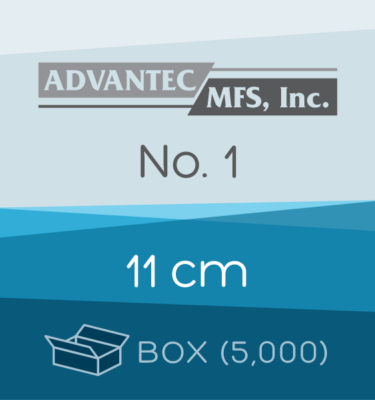 Box of 5,000 | 11 cm ADVANTEC No. 1 Folded Filter Papers for Qualitative Analysis
