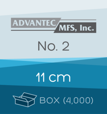 Box of 4,000 | 11 cm ADVANTEC No. 2 Folded Filter Papers for Qualitative Analysis