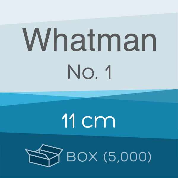 Box of 5,000 | 11 cm Whatman Grade 1 Folded Filter Papers for Qualitative Analysis