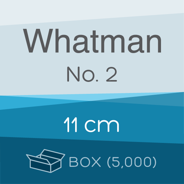 Box of 5,000 | 11 cm Whatman Grade 2 Folded Filter Papers for Qualitative Analysis