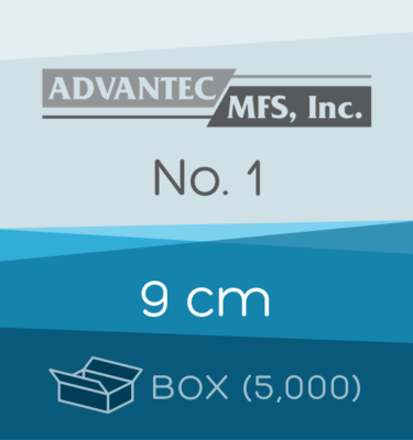 Box of 5,000 | 9 cm ADVANTEC No. 1 Folded Filter Papers for Qualitative Analysis