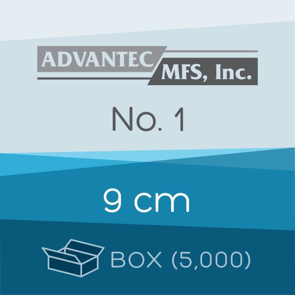Box of 5,000 | 9 cm ADVANTEC No. 1 Folded Filter Papers for Qualitative Analysis