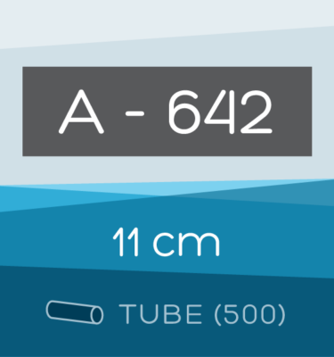 Tube of 500 | 11 cm Ahlstrom 642 Folded Filter Papers for Qualitative Analysis
