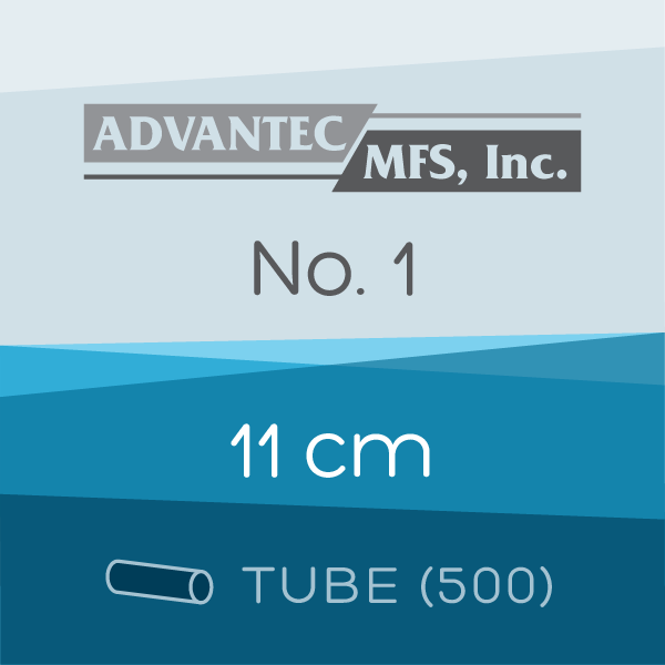 Tube of 500 | 11 cm ADVANTEC No. 1 Folded Filter Papers for Qualitative Analysis