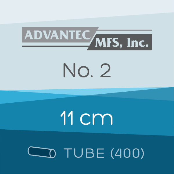 Tube of 400 | 11 cm ADVANTEC No. 2 Folded Filter Papers for Qualitative Analysis