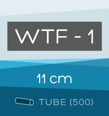 Tube of 500 | 11 cm WTF-1 Folded Filter Papers for Qualitative Analysis