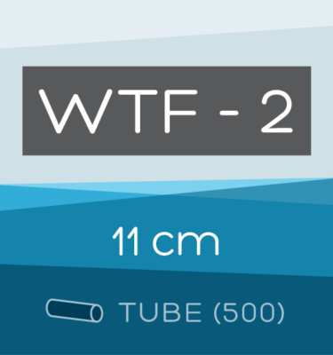 Tube of 500 | 11 cm WTF-2 Folded Filter Papers for Qualitative Analysis
