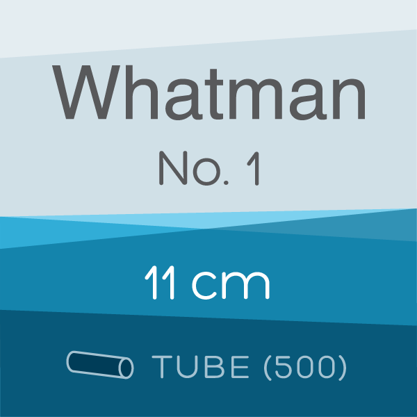 Tube of 500 | 11 cm Whatman Grade 1 Folded Filter Papers for Qualitative Analysis