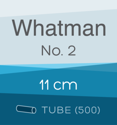 Tube of 500 | 11 cm Whatman Grade 2 Folded Filter Papers for Qualitative Analysis