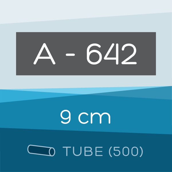 Tube of 500 | 9 cm Ahlstrom 642 Folded Filter Papers for Qualitative Analysis