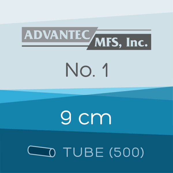 Tube of 500 | 9 cm ADVANTEC No. 1 Folded Filter Papers for Qualitative Analysis